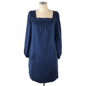ANTHROPOLOGIE Navy Tunic Silk Wool Tunic #T19